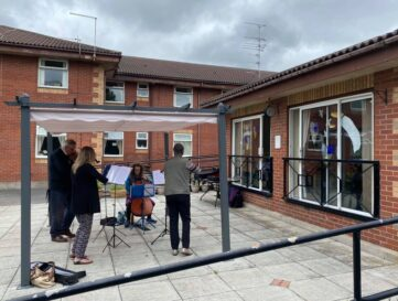 Northern Chamber Orchestra plays outdoor concerts for care home residents