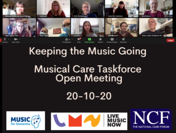 Keeping the singing going MCT meeting October 2020