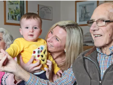 A music class for babies is held in a care home to help dementia