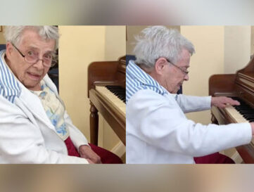 92-year-old remembers Moonlight Sonata on piano