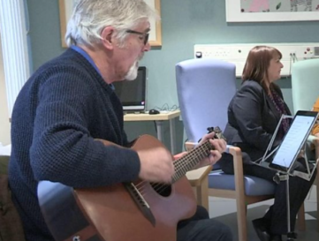 Dementia patients share songs and tears at the wellbeing clinic
